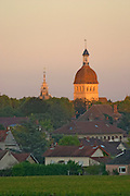notre dame church tower beaune cote de beaune burgundy france