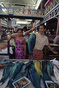 Fish market, Papeete, Tahiti, French Polynesia (not model released)<br />