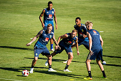 July 4, 2018 - Gelendzhik, Russia - 180704 John Guidetti, Sebastian Larsson, Martin Olsson and Isaac Kiese Thelin of the Swedish national football team at a practice session during the FIFA World Cup on July 4, 2018 in Gelendzhik..Photo: Petter Arvidson / BILDBYRN / kod PA / 92081 (Credit Image: © Petter Arvidson/Bildbyran via ZUMA Press)