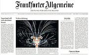 Die Larve des Krebses Sergestes sp. ist auf Seite 1 der Frankfurter Allgemeinen Zeitung (F.A.Z.) zu sehen. (03.08.2010)