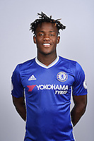 COBHAM, ENGLAND - AUGUST 11: Michy Batshuayi of Chelsea during the Official Portrait session at Chelsea Training Ground on August 11, 2016 in Cobham, England. (Photo by Darren Walsh/Chelsea FC via Getty Images)