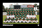 2008 Miami Hurricanes Baseball Team Photo