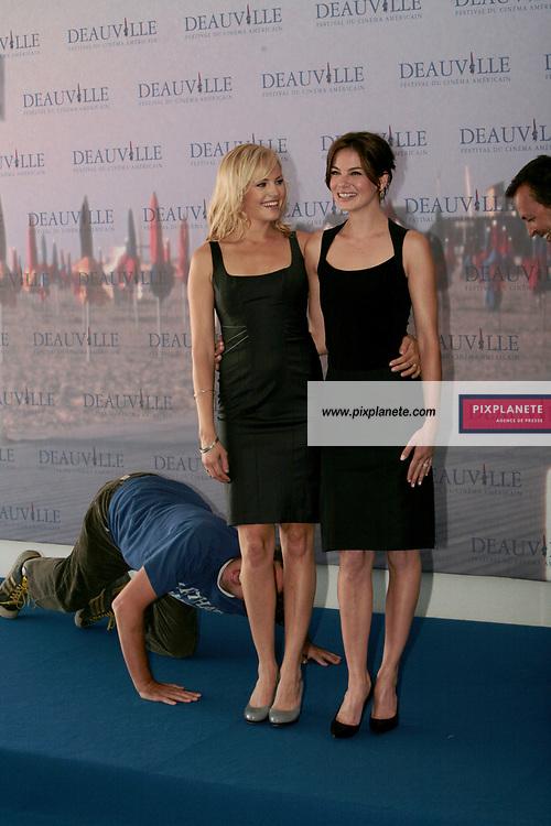 Michelle Monaghan Malin Akerman - Peter et Bobby Farrelly - pour The Hearthbreak kid - 33 ème Festival du Film Américain de Deauville - 8/09/2007 - JSB / PixPlanete