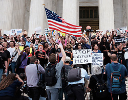 October 9, 2018 - Washington, D.C - A large group of women took to the steps of the U.S Supreme Court in protest shortly after Judge KAVANAUGH'S confirmation was announced on October 6, 2018 in Washington, D.C. (Credit Image: © Michael A. McCoy/ZUMA Wire)