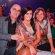 NLD/Hilversum/20130105 - 2de Liveshow Sterren Dansen op het IJs 2013, ouders Laura Ponticorvo