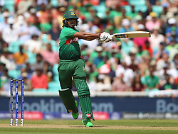Bangladesh's Mosaddek Hossain Saikat during the ICC Cricket World Cup group stage match at The Oval, London.