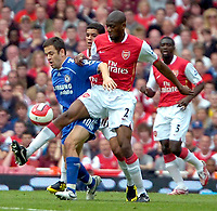 Photo: Ed Godden/Sportsbeat Images.<br /> Arsenal v Chelsea. The Barclays Premiership. 06/05/2007.<br /> Chelsea's Joe Cole (L), is challenged by Abou Diaby.