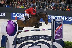 Farrington Kent (USA) - Blue Angel<br /> Longines FEI World Cup™ Jumping Final 2013/2014<br /> Lyon 2014<br /> © Dirk Caremans