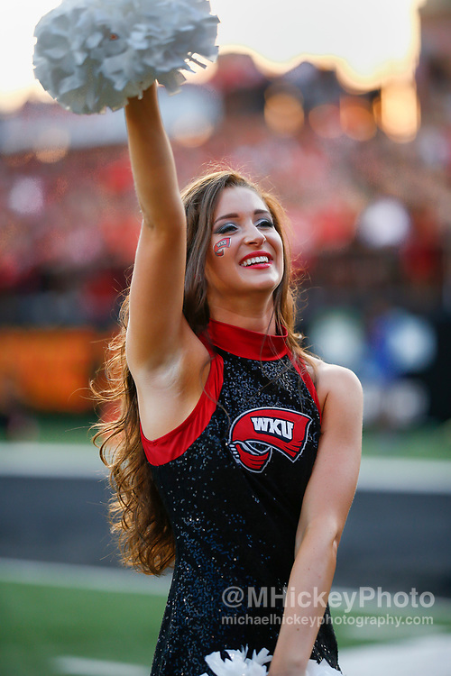 BOWLING GREEN, IN - SEPTEMBER 16: A Western Kentucky Hilltoppers dancer is seen during the game against the Louisiana Tech Bulldogs at Houchens-Smith Stadium on September 16, 2017 in Bowling Green, Kentucky. (Photo by Michael Hickey/Getty Images)