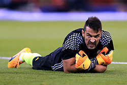 3rd June 2017 - UEFA Champions League Final - Juventus v Real Madrid - Juventus goalkeeper Gianluigi Buffon gestures during the warm-up - Photo: Simon Stacpoole / Offside.