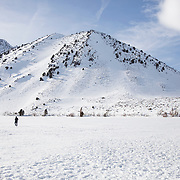 The most snow in history for one month fell on Mammoth Lakes in the Eastern Sierras in February, 2019. Upwards of 20 feet fell on Mammoth Mountain and blanketed the town in February alone.