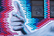 South East by Eric is a street art piece best viewed with 3D glasses.