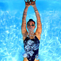 Maia Kamehiro-Stockwell is one of the swimmers on the that has the PCS girls team aiming high this season. <br /> Photo by Shmuel Thaler <br /> shmuel_thaler@yahoo.com www.shmuelthaler.com