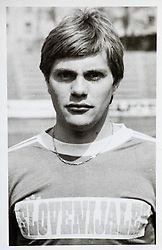 """An archive picture of Peter Amersek, former Slovenian football player of NK Olimpija and Vorwärts Steyr (AUT), now owner of """"Pierrot Pub"""" in Ljubljana."""