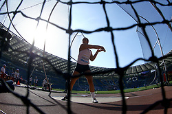 May 31, 2018 - Rome, Italy - Sandra Perkovic (CRO) competes in discus throw women during Golden Gala Iaaf Diamond League Rome 2018 at Olimpico Stadium in Rome, Italy on May 31, 2018. (Credit Image: © Matteo Ciambelli/NurPhoto via ZUMA Press)