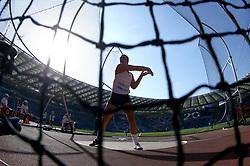 May 31, 2018 - Rome, Italy - Sandra Perkovic (CRO) competes in discus throw women during Golden Gala Iaaf Diamond League Rome 2018 at Olimpico Stadium in Rome, Italy on May 31, 2018. (Credit Image: © Matteo Ciambelli/NurPhoto via ZUMA Press)