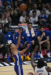 October 30, 2017 - Los Angeles, California, U.S - Stephen Curry #30 of the Golden State Warriors throws a jump shot during their NBA game with the Los Angeles Clippers on Monday October 30, 2017 at the Staples Center in Los Angeles, California. Clippers v Warriors. Clippers lose to Warriors, 141-113. (Credit Image: © Prensa Internacional via ZUMA Wire)