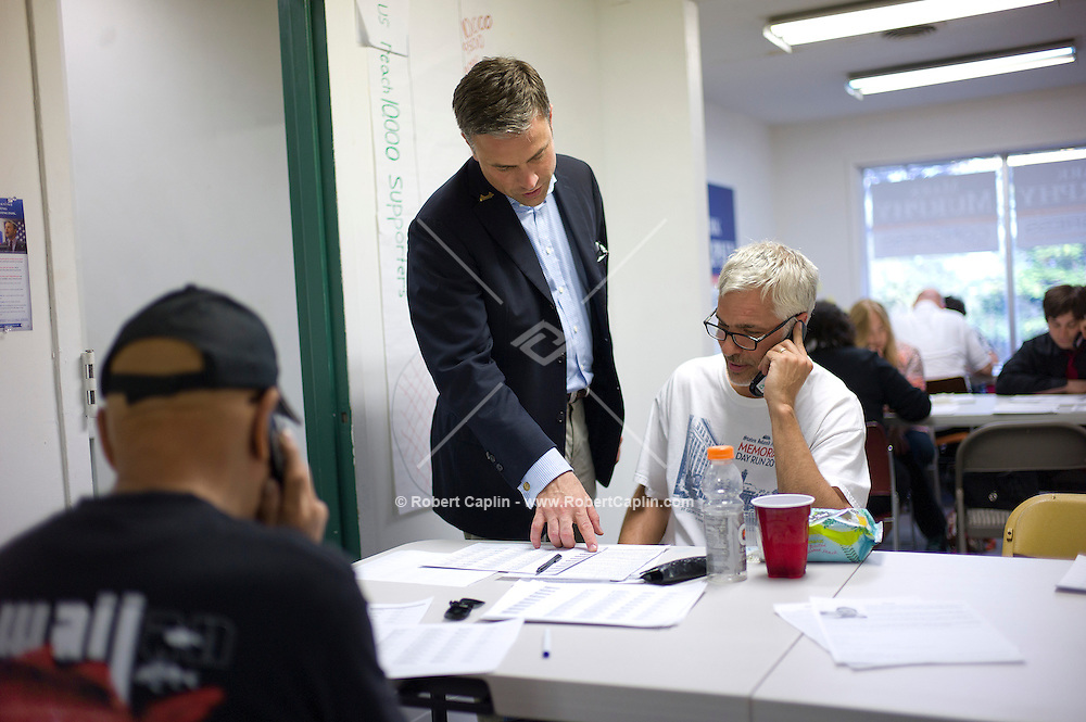Mark Murphy (D), congressional candidate in Staten Island at his campaign office in New York...Photo © Robert Caplin..