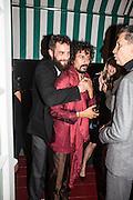 SANDRO KOPP; Haider Ackermann;, Charles Finch and  Jay Jopling host dinner in celebration of Frieze Art Fair at the Birley Group's Harry's Bar. London. 10 October 2012.