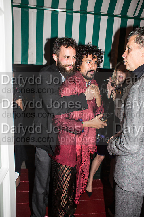 SANDRO KOPP; Haider Ackermann;, Charles Finch and  Jay Jopling host dinner in celebration of Frieze Art Fair at the Birley Group's Harry's Bar. London. 10 October 2012.