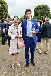 JAKE WARREN and LINDA LEE at Goffs London Sale held at The Orangery, Kensington Palace, London on 15th June 2015.