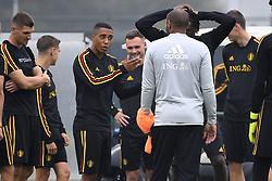 September 5, 2018 - Tubize, Belgique - Youri Tielemans midfielder of Belgium, Thierry Henry ass. coach of Belgian Team (Credit Image: © Panoramic via ZUMA Press)