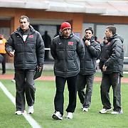 Turkey U21's coach Tolunay Kafkas (C) during their friendly soccer match Turkey U21 betwen Denmark U21 at Recep Tayyip Erdogan stadium in Istanbul February 29, 2012. Photo by TURKPIX