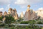 Chimneys rock formation, Cappadocia, Turkey