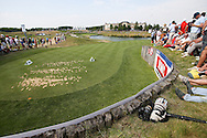 View from the back of the 16th tee during Round Two of the 2015 Alstom Open de France, played at Le Golf National, Saint-Quentin-En-Yvelines, Paris, France. /03/07/2015/. Picture: Golffile   David Lloyd<br /> <br /> All photos usage must carry mandatory copyright credit (© Golffile   David Lloyd)