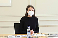 012221 Queen Letizia attends a Working meeting with the Fundación Telefonica Management Committee