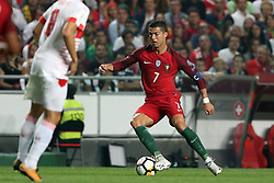 October 10, 2017 - Lisbon, Portugal - Portugal's forward Cristiano Ronaldo in action during the 2018 FIFA World Cup qualifying football match between Portugal and Switzerland at the Luz stadium in Lisbon, Portugal on October 10, 2017. Photo: Pedro Fiuza  (Credit Image: © Pedro Fiuza/NurPhoto via ZUMA Press)