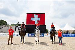 Team SUI, Andrina Suter, Anthea Hartmann, Tamara Lucia Roos<br /> European Dressage Championships U25 - Hagen 2016<br /> © Hippo Foto - Leanjo de Koster<br /> 16/06/16