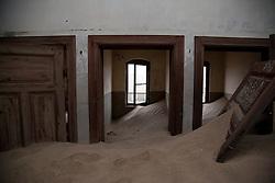 Mar 27, 2012 - Kolmanskop, Namibia - Buildings in an abandoned mining town on the Namibian coast are gradually overtaken by sand dunes. (Credit Image: © Elijah Hurwitz/ZUMAPRESS.com)