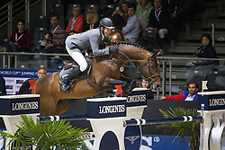 Beerbaum Ludger (GER) - Chaman<br /> Longines FEI World Cupô Jumping Final 2013/2014<br /> Lyon 2014<br /> © Dirk Caremans