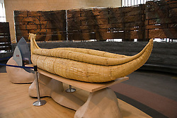 Washington, DC: National Museum of the American Indian.  Reed canoe in lobby.  Photo # wash99305-70619..Photo copyright Lee Foster, www.fostertravel.com, lee@fostertravel.com, 510/549-2202