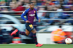 March 30, 2019 - Barcelona, Catalonia, Spain - Malcom during the match between FC Barcelona and RCD Espanyol, corresponding to the week 29 of the Liga Santander, played at the Camp Nou Stadium, on 30th March 2019, in Barcelona, Spain. (Credit Image: © Joan Valls/NurPhoto via ZUMA Press)