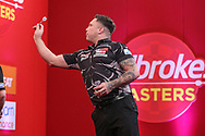 Gerwyn Price during the PDC Ladrokes Masters 2021 at Marshall Arena, Milton Keynes, United Kingdom on 31 January 2021.