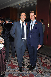 Left to right, SEB LEE and BEN ELLIOT at the Quintessentially Foundation poker evening at The Savoy Hotel, London on 30th October 2012.