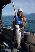 King salmon fishing, Talon Lodge, Sitka, Alaska
