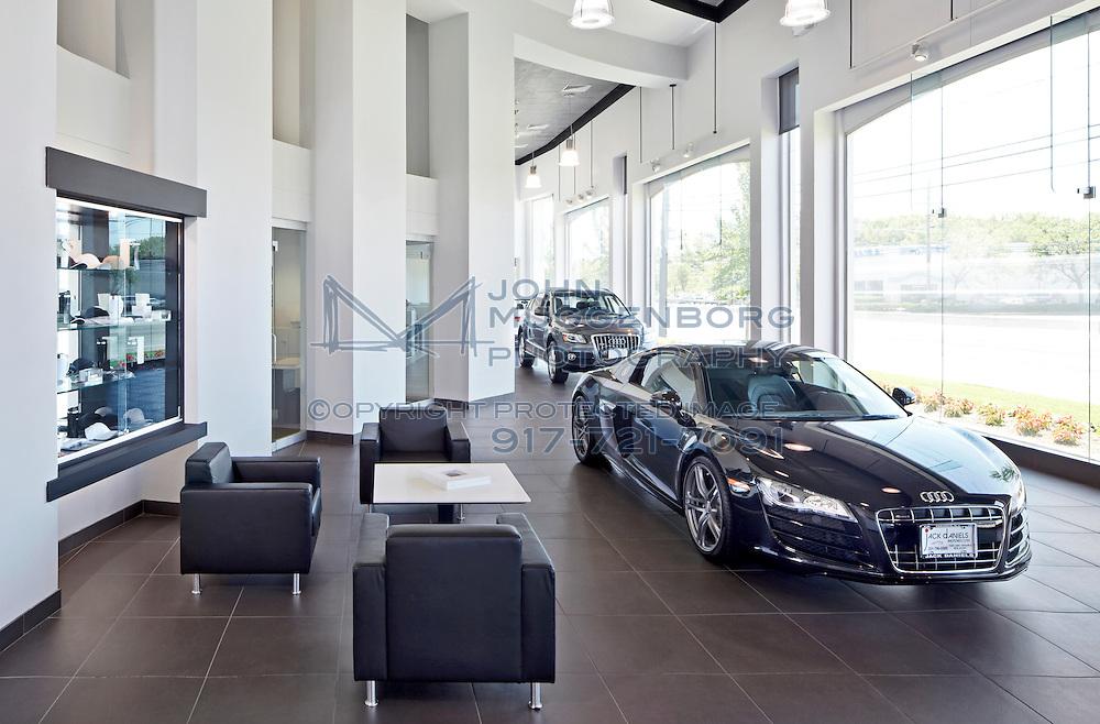 Image of the Jack Daniel's Audi Terminal dealership in Paramus, NJ.