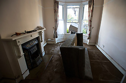 © Licensed to London News Pictures. 29/12/2015. York, UK. Flood damage to a property on Huntingdon Road in central York on December 29, 2015. Further rainfall is expected over coming days as Storm Frank approaches the east coast of the country. Photo credit: Ben Cawthra/LNP