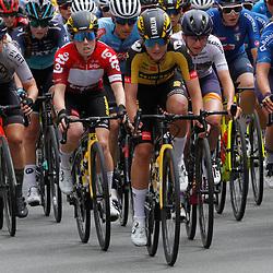 EEKLO (BEL) July 8 CYCLING: <br /> 1th Stage Baloise Belgium tour <br /> Peloton Karlijn Swinkels, Anna Henderson