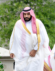 File photo - Deputy Crown Prince and Minister of Defense Mohammed bin Salman of Saudi Arabia arrives at the White House to attend a meeting with President Barack Obama June 17, 2016 in Washington, DC, USA. Saudi Arabia's king has appointed his son Mohammed bin Salman as crown prince - replacing his nephew, Mohammed bin Nayef, as first in line to the throne. Prince Mohammed bin Nayef, 57, has been removed from his role as head of domestic security, state media say. Photo by Olivier Douliery/ABACAPRESS.COM