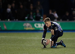 Cardiff Blues' Gareth Anscombe lines up a conversion<br /> <br /> Photographer Simon King/Replay Images<br /> <br /> Guinness Pro14 Round 9 - Cardiff Blues v Connacht Rugby - Friday 24th November 2017 - Cardiff Arms Park - Cardiff<br /> <br /> World Copyright © 2017 Replay Images. All rights reserved. info@replayimages.co.uk - www.replayimages.co.uk