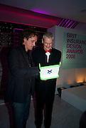 YVES BEHAR AND SIR JAMES DYSON, Brit Insurance Design Awards. Design Museum. London. 18 March 2008.  *** Local Caption *** -DO NOT ARCHIVE-© Copyright Photograph by Dafydd Jones. 248 Clapham Rd. London SW9 0PZ. Tel 0207 820 0771. www.dafjones.com.