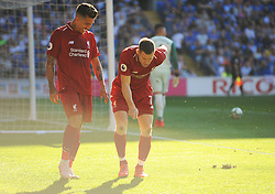 James Milner of Liverpool celebrates his goal - Mandatory by-line: Nizaam Jones/JMP - 21/04/2019 -  FOOTBALL - Cardiff City Stadium - Cardiff, Wales -  Cardiff City v Liverpool - Premier League