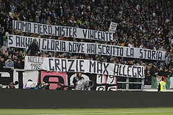 May 19, 2019 - Turin, Piedmont, Italy - The public of Allianz Stadium greets Massimiliano Allegri at his last match on the Juventus bench during the Serie A football match between Juventus FC and Atalanta BC at Allianz Stadium on May 19, 2019 in Turin, Italy. (Credit Image: © Massimiliano Ferraro/NurPhoto via ZUMA Press)