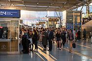Busy scene at Seoul Station, a train station in Seoul, Korea