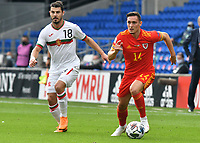 Football - 2020 / 2021 UEFA Nations League - Group B4 - Wales vs Bulgaria<br />      <br /> Connor Roberts Wales on the ball<br /> in a match played with no crowd due to Covid 19 coronavirus emergency regulations, in an almost empty ground, at the Cardiff City Stadium.<br /> <br /> COLORSPORT/WINSTON BYNORTH