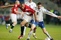 Fotball , 24 . mars 2007 , EM-kvalifisering , Gruppe C , Norge - Bosnia Herzegovina 1-2<br /> John Carew, Norge og Dario Damjanovic , Bosnia<br /> <br /> Norway